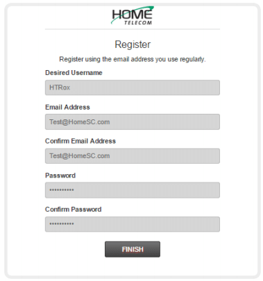 """Step 5: You will need to fill in all the fields in order to complete your registration. Click """"FINISH""""."""