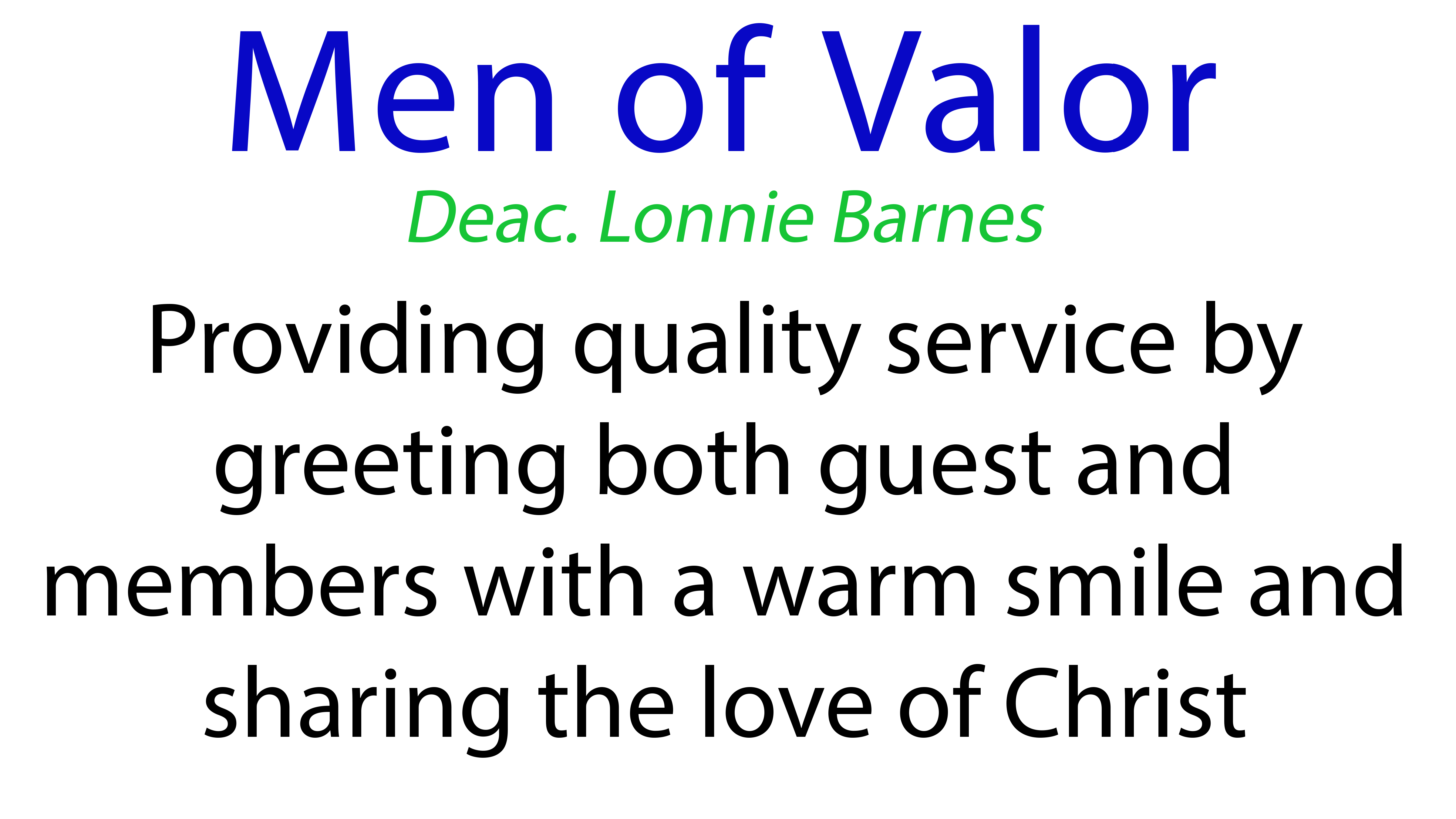 Men of Valor Ministry