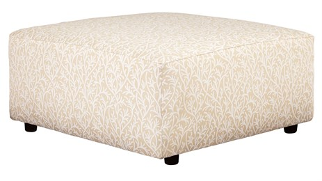 Nuvella Upholstered Oversized Ottoman Sand