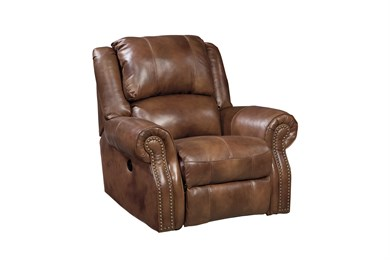 Walworth Leather Rocker Recliner Auburn
