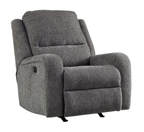 Krismen Power Rocker Recliner With Adjustable Headrest Charcoal