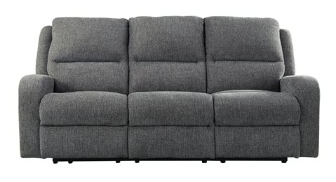 Krismen Power Reclining Sofa With Adjustable Headrest Charcoal