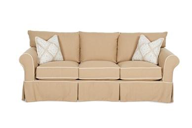 Jenny Large Upholstered Slip Cover Queen Sofa Sleeper