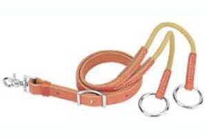Weaver Training Fork Harness Leather with Surgical Rubber Tubing