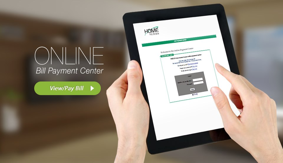 Online Bill-Payment Center Now Available