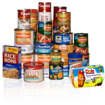 Good food donations include Cereal, Fruit, Canned Goods, Dried Beans and othe non-perishable items