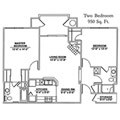 Two bedroom apartment at Windsor Point Retirement Community