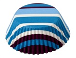 Bake Cups; Purple/Blue Stripe