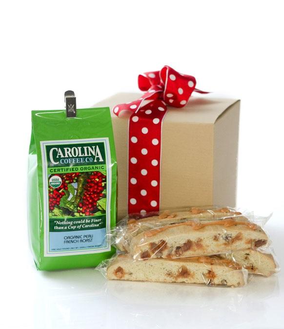 Carolina Coffee Biscotti and Coffee Gift