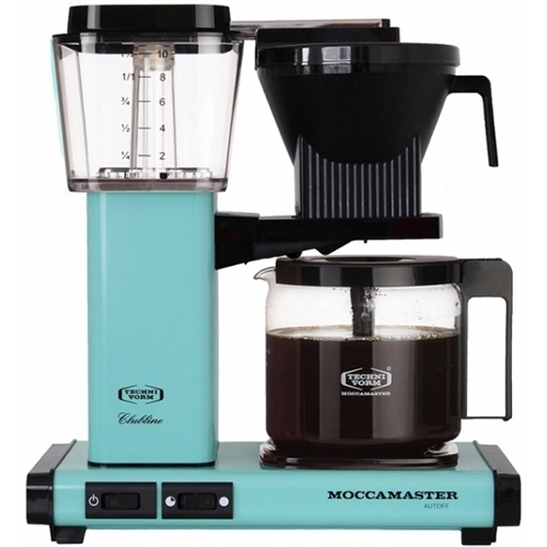 Carolina Coffee A Technivorm Moccamaster KGB Automatic Drip Stop Coffee Maker With Glass Carafe - Turquoise
