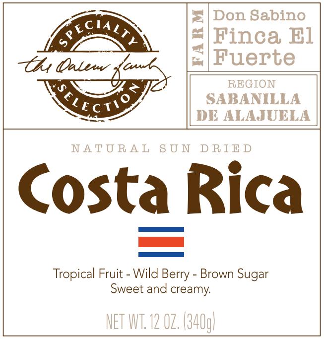 Carolina Coffee Costa Rica Finca El Fuerte Natural