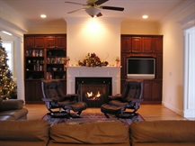 traditional fireplace & entertainment wall