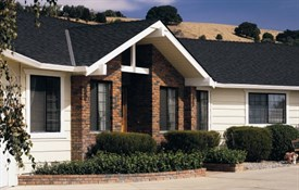 Landmark™ TL Impact Resistant Shingles - Color: Moire Black