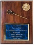 SA912 - Single Lacrosse Stick 9 X 12 Plaque