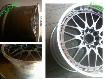 Repaired, sporty rim