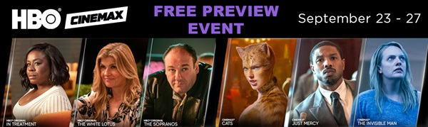 HBO Free Preview Event - Sept 23-27