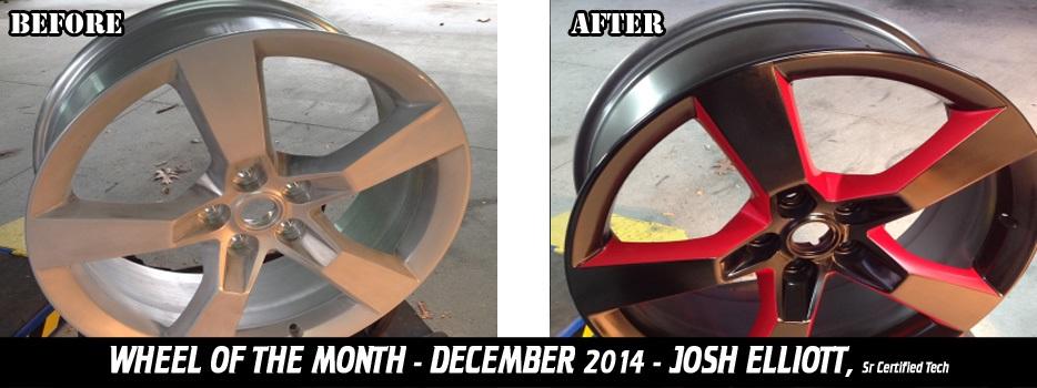 Wheel of the Month, December 2014, Josh Elliott, Sr. Certified Tech