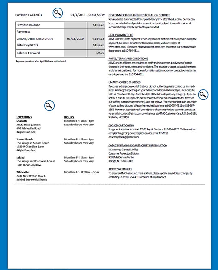 Understanding Your ATMC Bill