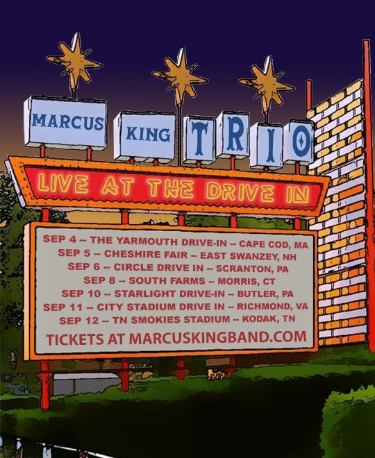 Marcus King Trio Announce Live At The Drive In Shows