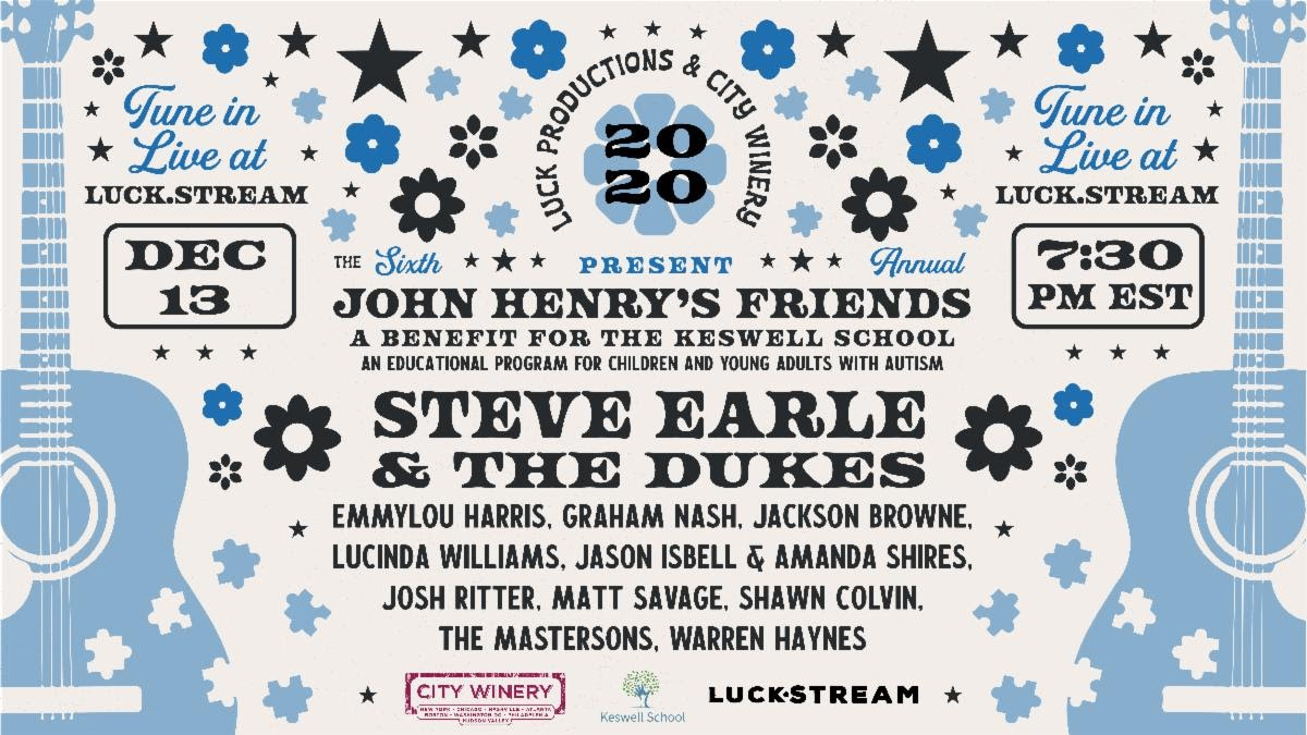 6th Annual John Henry's Friends Benefit for Autism With Steve Earle And More