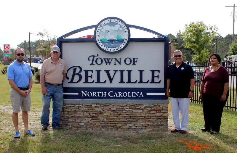 Town of Belville Unveils New Welcome Sign
