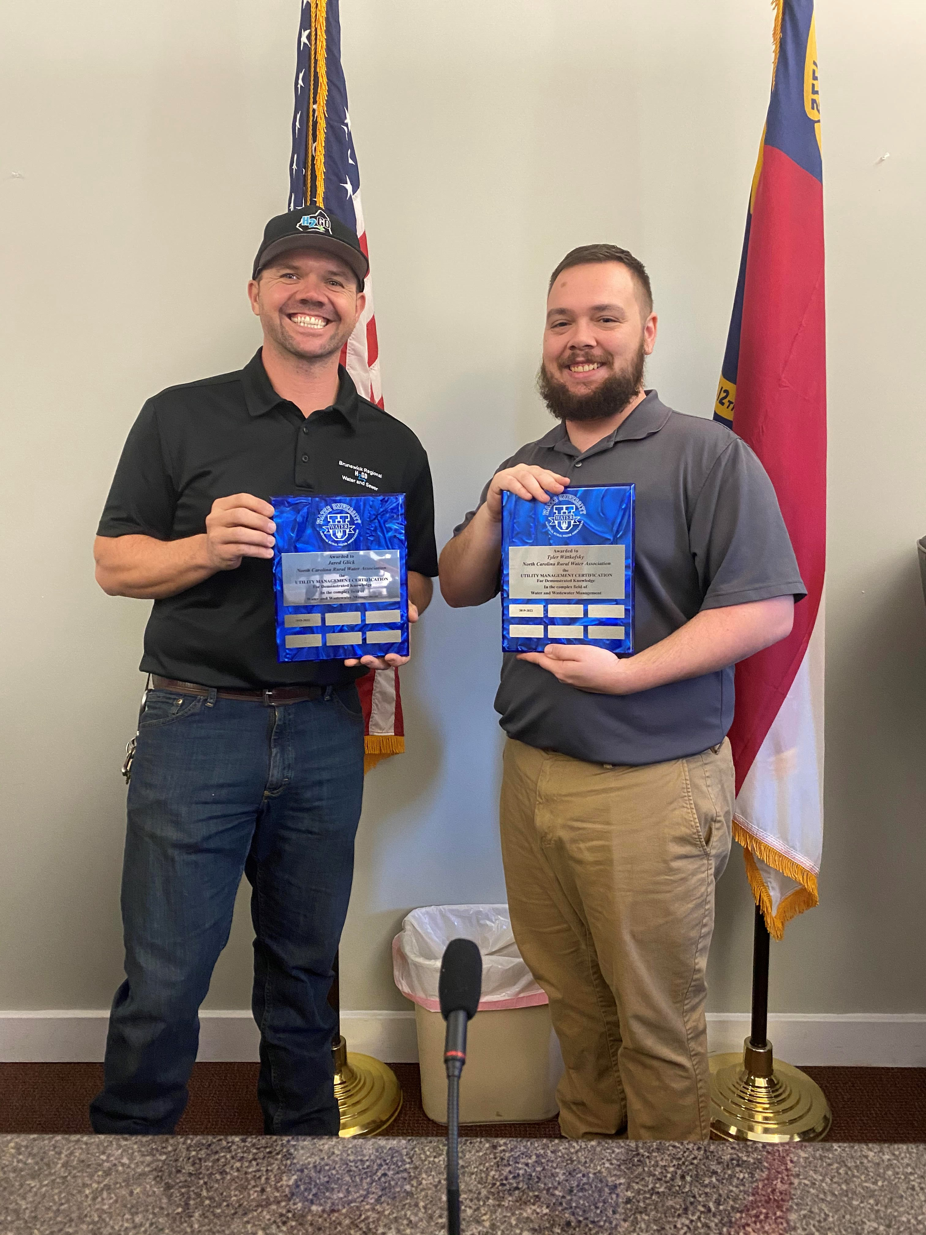 H2GO's Jared Glick and Tyler Wittkofsky Earn Utility Management Certification