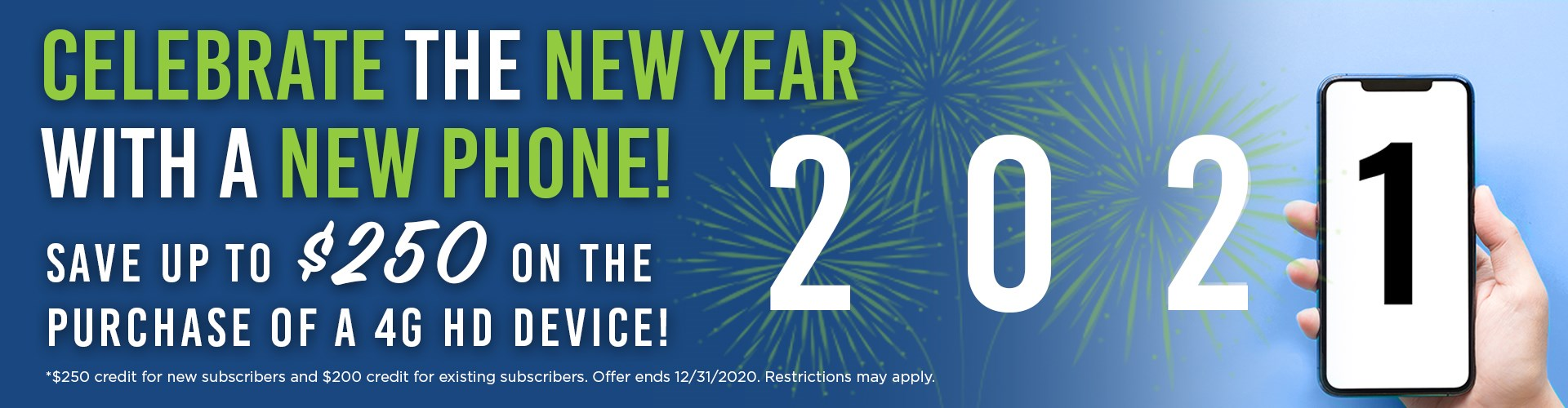 Celebrate the New Year with a NEW Phone!
