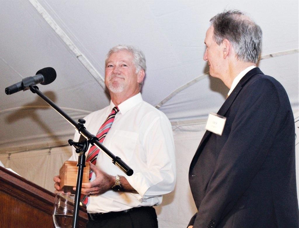 September 27: Craig Myers recognized for leadership: Wilson-Barton Partnership dinner held Thursday