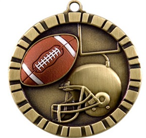 IM - 2 inch Football Medal