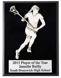 FCP79 Female Figure Lacrosse Plaque