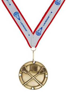 MDL-4 - Crossed Stick Mylar Lacrosse Medal ***AS LOW AS $2.90***