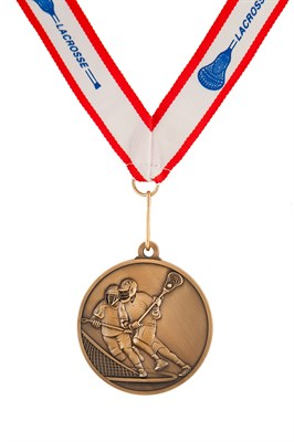 MDL-6 Male Lacrosse Medal ***AS LOW AS $3.20 each***