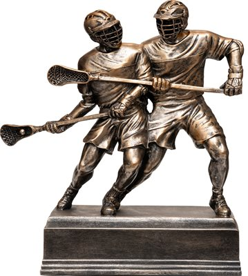 LSS-14 inch Double Lacrosse Player Resin Sculpture