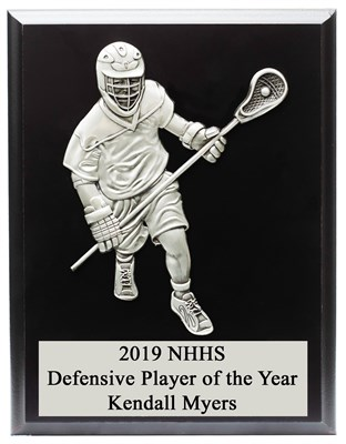 MCD810 Defensive Male Figure Lacrosse Plaque