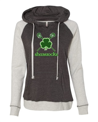 Shamrocks Ladies Raglan Hoodie - Order due by Monday, October 12, 2020