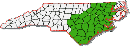 North Carolina service area