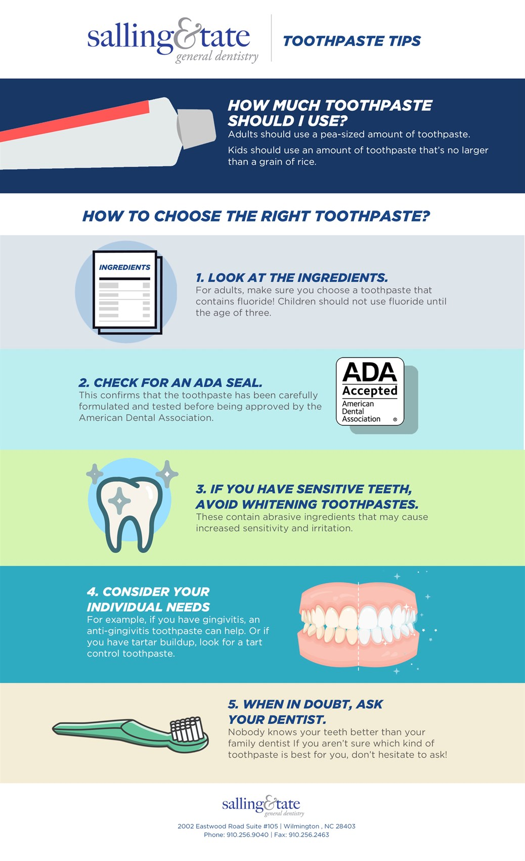 Toothpaste tips