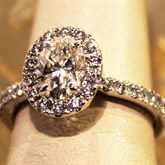 Diamond Oval Halo Ring available at Albert F. Rhodes Jewelers